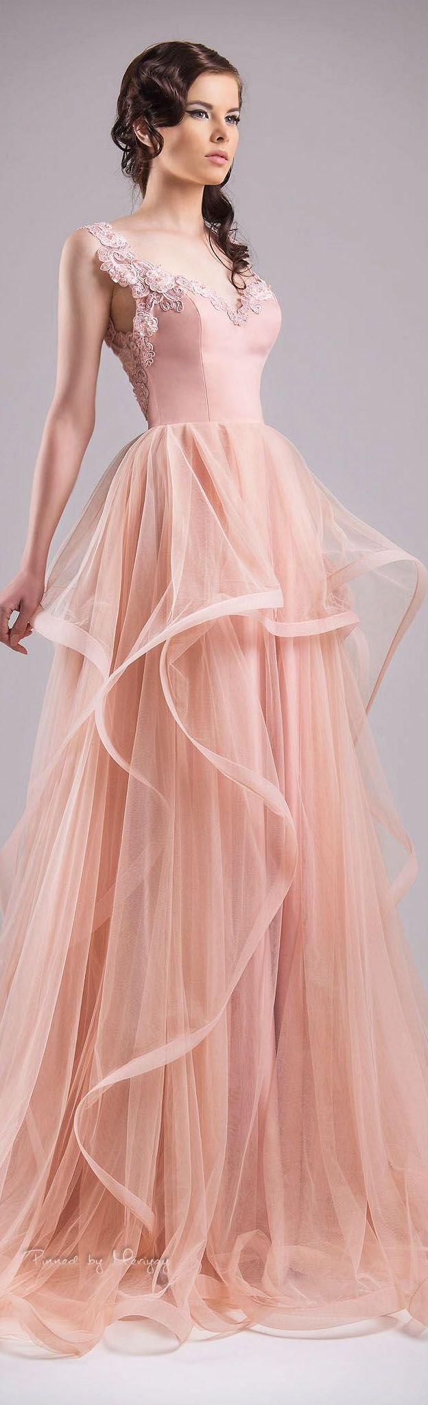 Blush Pink Prom DressesBall Gown DressLace DressSimple DressTulle Evening GownsCheap Party DressElegant Dresses