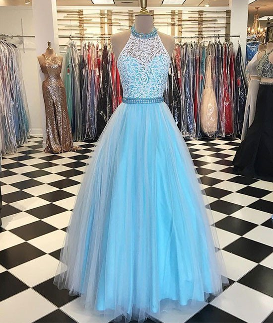 4d845f1932af Real Photos Prom Dress, Backless Prom Dresses, Tulle Evening Dress, Sexy Prom  Dresses