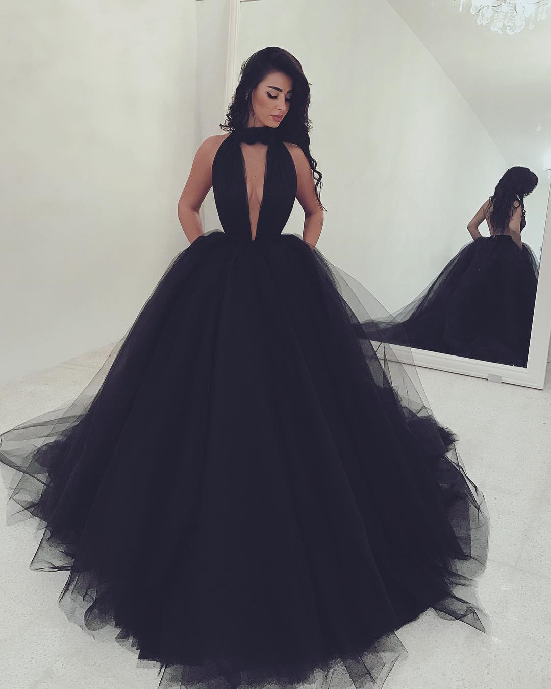 5b7773345cc Black Prom Dresses